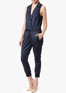 Chambray Jumpsuit in Navy Chambray