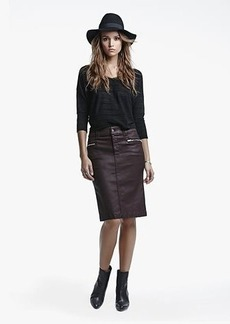 Fashion High Waist Pencil Skirt in Burgundy