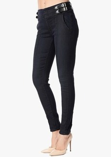 Fashion High Waist Skinny with Waistband Buckles in Lilah Blue Black 2
