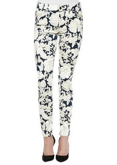 Floral-Print Skinny Ankle Jeans   Floral-Print Skinny Ankle Jeans