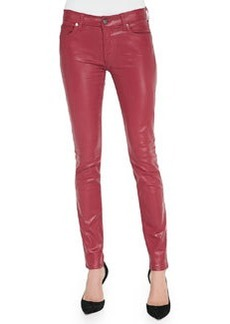 Gummy Skinny Jeans, Coated Cranberry   Gummy Skinny Jeans, Coated Cranberry