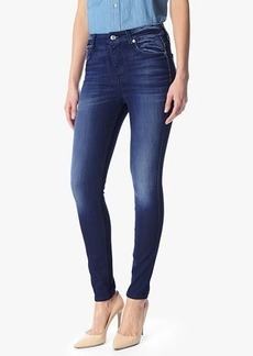 High Waist Ankle Skinny with Contour Waistband in Crater Lake Dark Blue