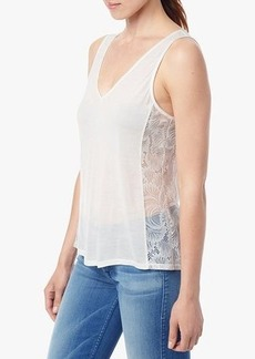 Lace Panel Tank in Eggshell