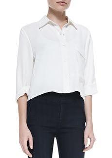 Long-Pocket Short-Sleeve Blouse   Long-Pocket Short-Sleeve Blouse