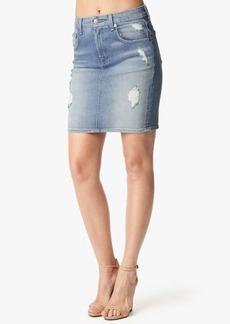 Mid Length Pencil Skirt in Light Sky 3