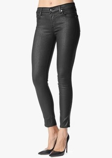"Mid Rise Ankle Skinny in Black Jeather (28"" Inseam)"