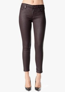 """Mid Rise Ankle Skinny in Burgundy Jeather (28"""" Inseam)"""