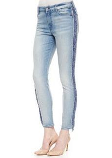 7 For All Mankind Mid-Rise Fringe Skinny Jeans, Slim Illusion