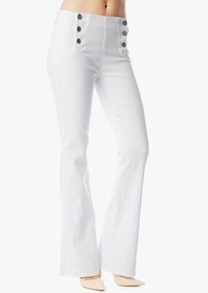 Nautical Trouser With Pearlized Buttons in White Fashion