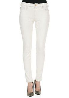Polished Twill Skinny Pants, Antique White   Polished Twill Skinny Pants, Antique White