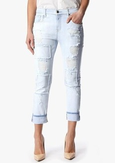 Relaxed Skinny in Patched & Destroyed Rigid Light Blue