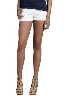 Roll-Up Jean Shorts, White   Roll-Up Jean Shorts, White