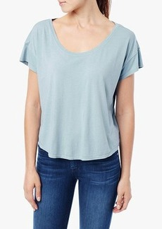 Short Sleeve Modal Dolman Scoop in Pale Turquoise