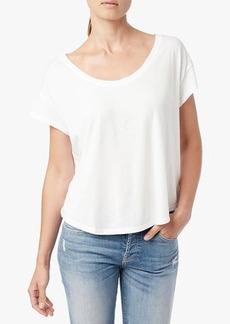 Short Sleeve Modal Wash Dolman Scoop in Blanc de Blanc