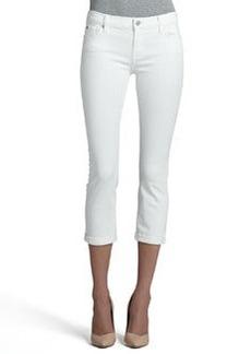 Skinny Crop & Roll Jeans, Clean White   Skinny Crop & Roll Jeans, Clean White