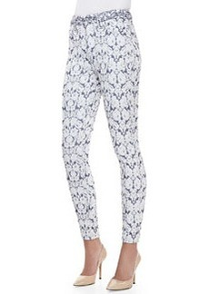 Tailored Skinny Ankle Jeans, Dutch Jacquard   Tailored Skinny Ankle Jeans, Dutch Jacquard