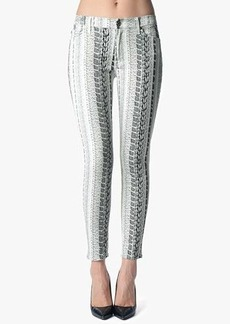 "The Ankle Skinny in Black and White Reptile (28"" Inseam)"