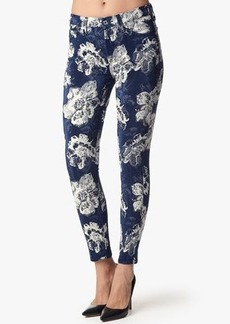 "The Ankle Skinny in Indigo Floral Jacquard (28"" Inseam)"