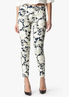 "The Ankle Skinny in White & Navy Floral (28"" Inseam)"