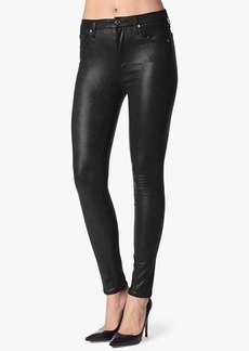 The High Waist Skinny Contour in Black Metallic Twill