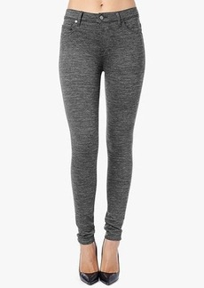 The High Waist Skinny in Heather Charcoal Double Knit