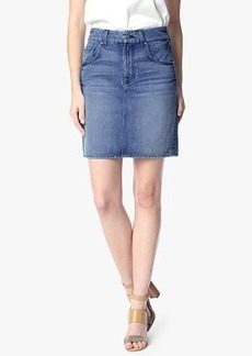 The Midi Pencil Skirt in Rigid Vintage Indigo