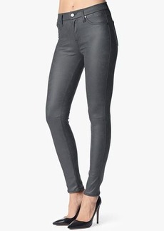 The Seamed Skinny Contour in Leather-Like Dark Grey