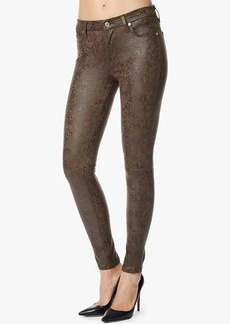 The Seamed Skinny in Chocolate Brown Matte Snake