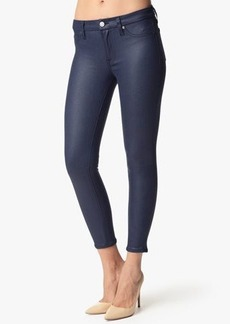 "The Seamed Skinny in Crackled Leather-Like Deep Navy (28"" Inseam)"