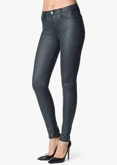 The Seamed Skinny in Leather-Like Teal
