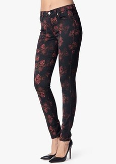 The Skinny Contour in Rouge Roses Print