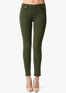 """The Slim Illusion Ankle Skinny in Olive Green (28"""" Inseam)"""