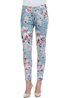 Victorian Floral-Print Skinny-Leg Jeans   Victorian Floral-Print Skinny-Leg Jeans
