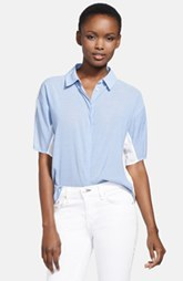 J Brand Ready-To-Wear 'Hay' Chambray & Voile Blouse