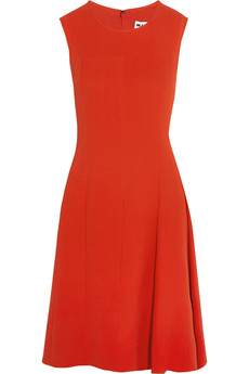 Jil Sander Pleated silk-crepe dress