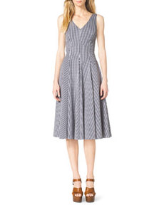 Gingham Check Sleeveless A-Line Dress   Gingham Check Sleeveless A-Line Dress