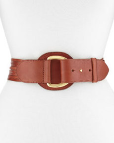 Linea Pelle Luna Sliced D-Ring Hip Belt, Cognac