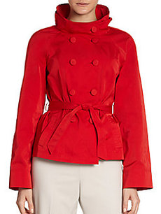 Lafayette 148 New York Aldridge Double-Breasted Belted Jacket