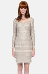 Kay Unger Crochet Lace Sheath Dress