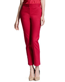 Straight-Leg Ankle Pants, Fuchsia   Straight-Leg Ankle Pants, Fuchsia