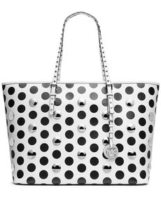 MICHAEL Michael Kors Handbag, Jet Set Travel Dot Stud Medium Tote