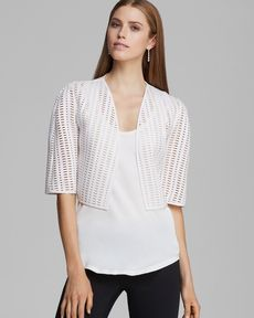 MILLY Bolero - Perforated Neoprene Cropped