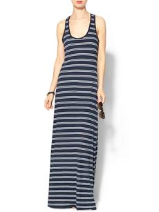 Splendid Exclusive Double French Stripe Maxi Tank Dress