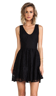 Joie Phelia Lace Dress in Black