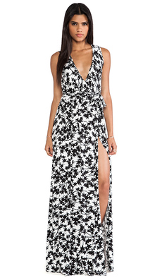 Rachel Pally Crawford Wrap Maxi Dress in Black