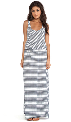 Michael Stars Sleeveless Racer Back Maxi Dress in Black