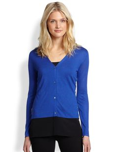 Saks Fifth Avenue Collection Contrast-Back Cardigan