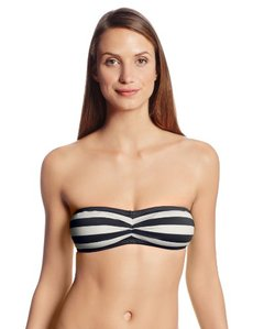 Juicy Couture Women's Boho Stripe Bandeau Bikini Top