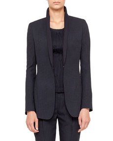 Akris punto Perforated Jacket, Navy