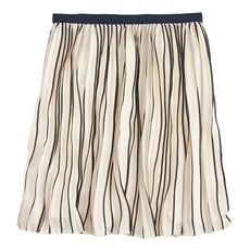 Sunburst skirt in stripe